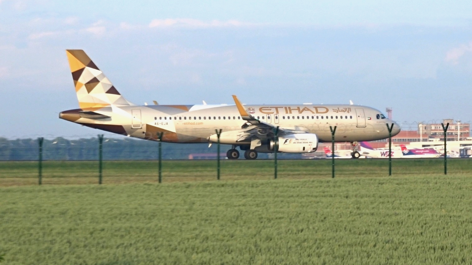 ETIHAD Airways Airbus A319 at Belgrade airport