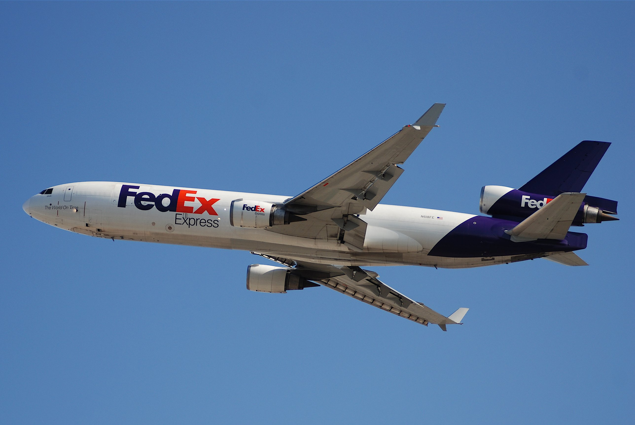 FedEx Express MD-11F Departing from LAX